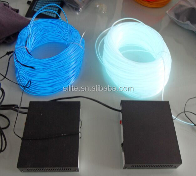 2015 high brightness flexible muti colour lighting decoration el wire