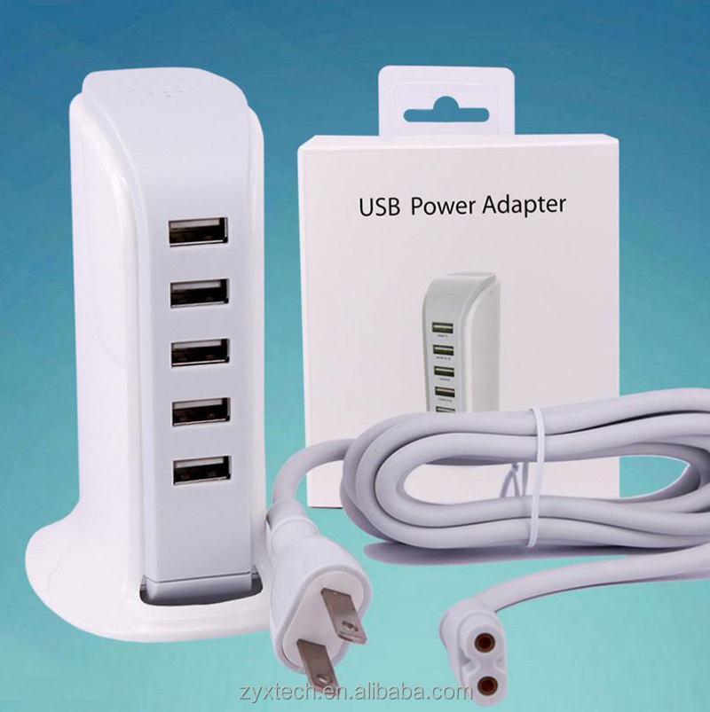 <strong>Portable</strong> 5USB Worldwide Travel Adapter Charger US UK US Plug wall usb charger