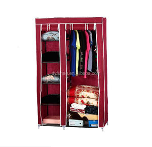 Non-woven cloth Portable Foldable fabric bedroom Storage cabinet