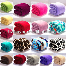 2014 Hot Luxury 100% Polyester Solid&Printed Super Soft Warm Cheap High Quality Coral Fleece Applique Embroidery Baby Blanket