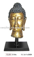 Polyresin Buddha with Square Wooden Stand