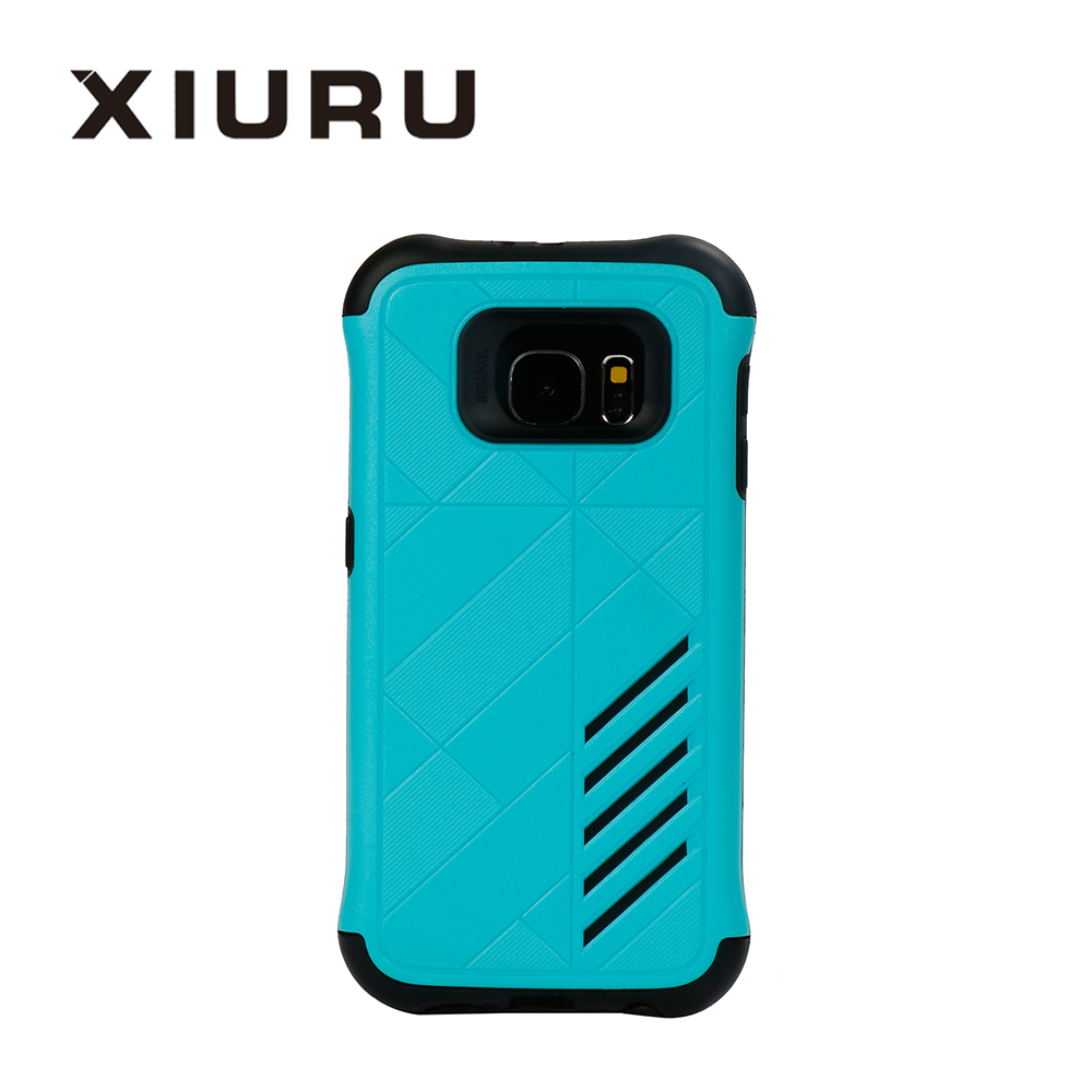 2 in 1 tpu+pc Mobile Phone Cover Hybrid Armor Hard Back Phone Cover For samsung s7 edge XR-PC-57-2