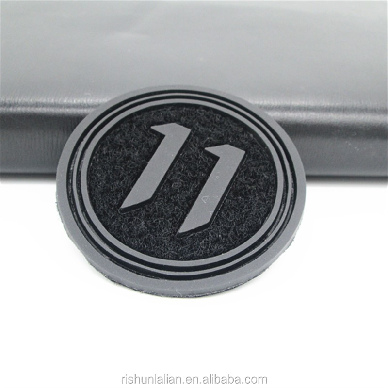 Any color 3D heat transfer silicone label designer embossed logo PVC rubber patch for clothing/bag