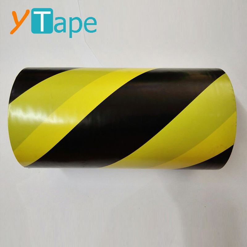 500 Meter Black and Yellow Premium Barrier Quality Hazard Warning Tape Roll 70mm