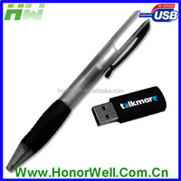 Three Area Imprint Message Promo Plastic Pen Shape Usb memory stick Usb Flash Thumb Drive 2G 4G 8G 16G 32G