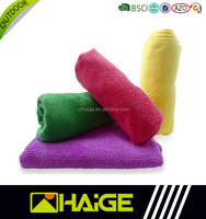 China Suppliers fast dry microfiber towel pure color bath towels