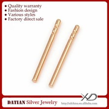 XD K035 Fashion 18 Karat Rose Gold Ear Studs 0.8mm Pin Diameter