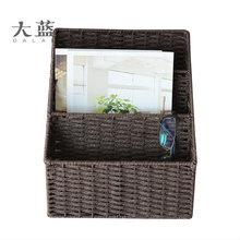 ECO-friendly three layers handmade paper rope storage basket on desk