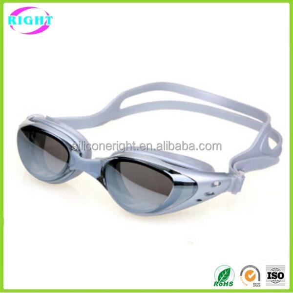 Professional mirror swimming goggles with diopter