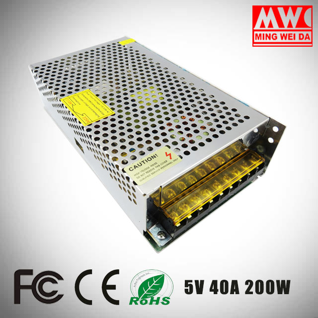 S-200-5 5V 40A 200W LED driver display power supply With Factory Wholesale Price