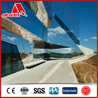 Mirror finished acp perfect faltness reflective building material