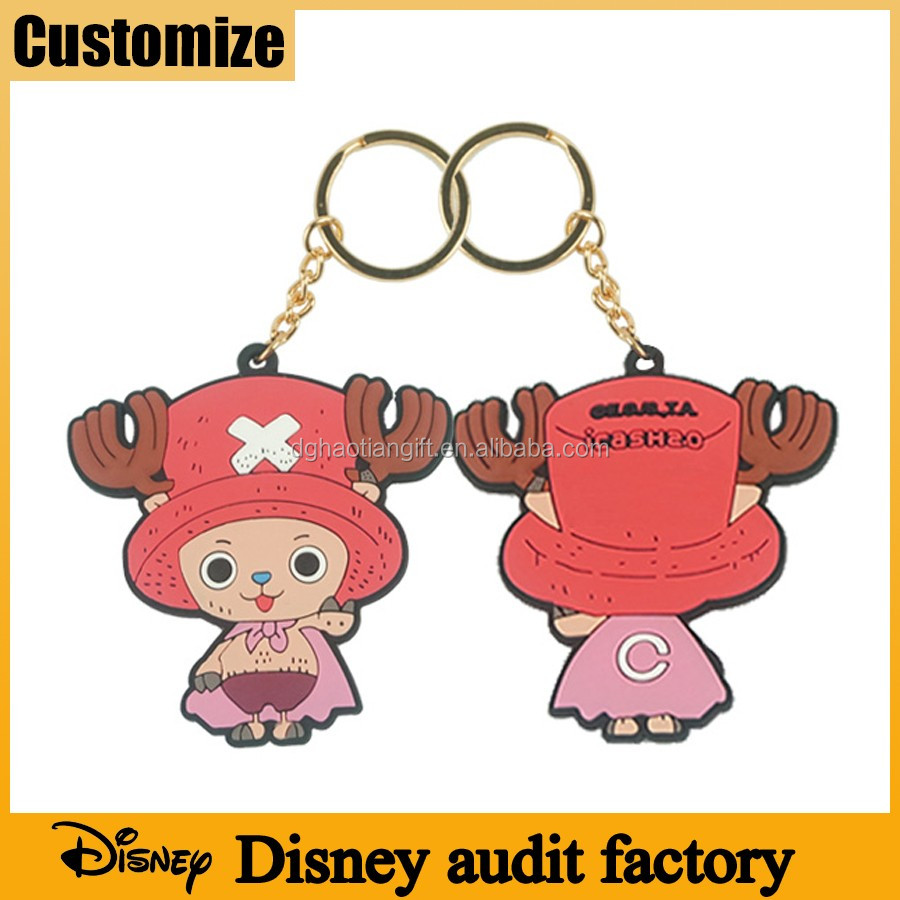 Social compliance Disney audited manufacturer pvc free eco-friendly silicone rubber promotional gifts custom keyrings