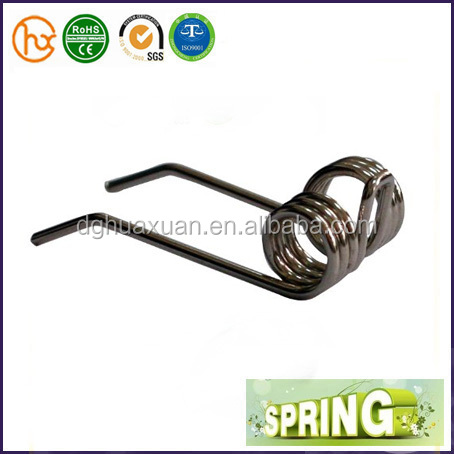 High precision steel industrial double torsion spring