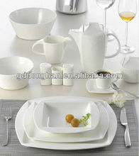 fine china porcelain glazed dinnerware ,square dinner set