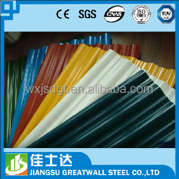 corrugated metal sheets /roofing sheets / color coated galvanized steel sheet pvc coated