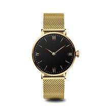 2018 Simple design quartz stainless steel back fashion wrist watch for men and women