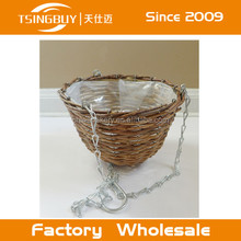Cheap Price Wicker Hanging Plant Basket With Plastic Insert