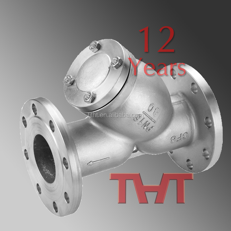 THT Y type Strainer filter SS body with screen Barrel Strainers Basket strainer for valve