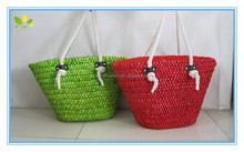 Fashion women handbags cotton rope handle beach bag big tote bags