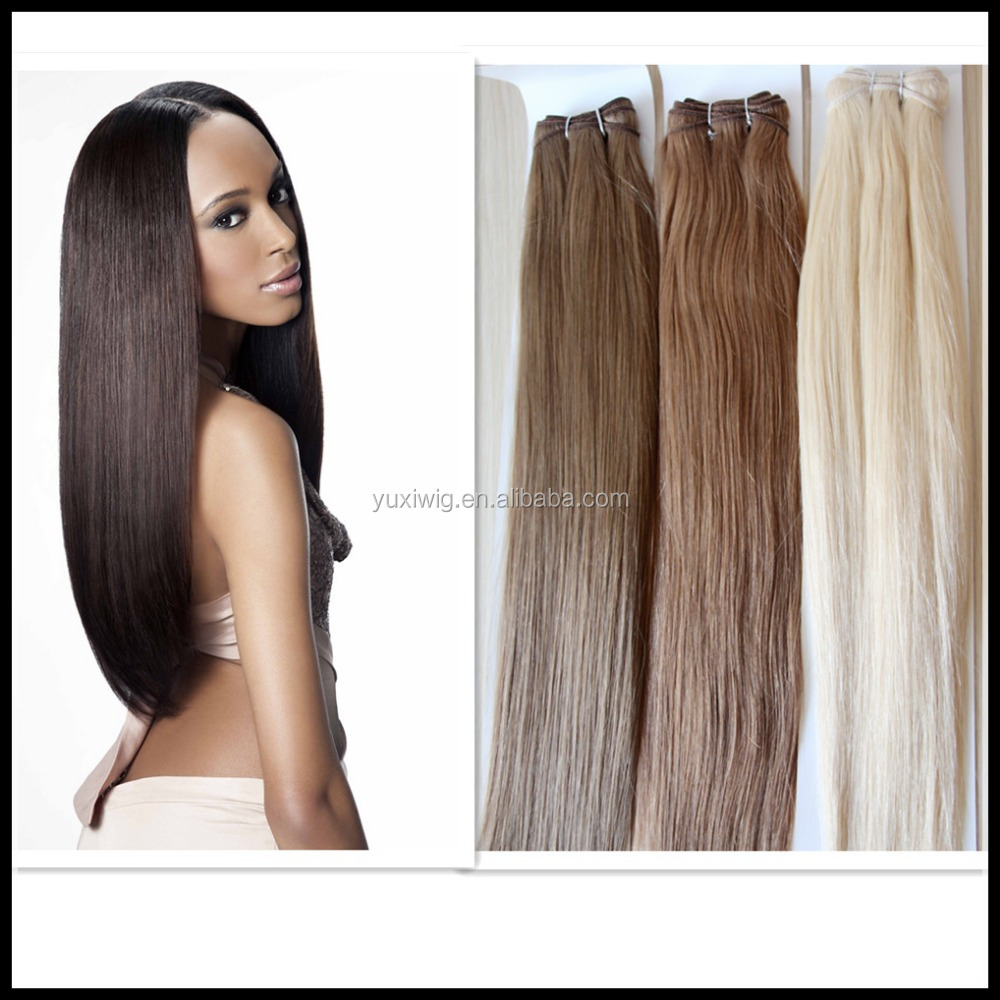 different color silk straight Virgin peruvian human hair crochet hair extension