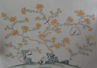Hand-Painted chinese art decorative bedroom Wallpaper