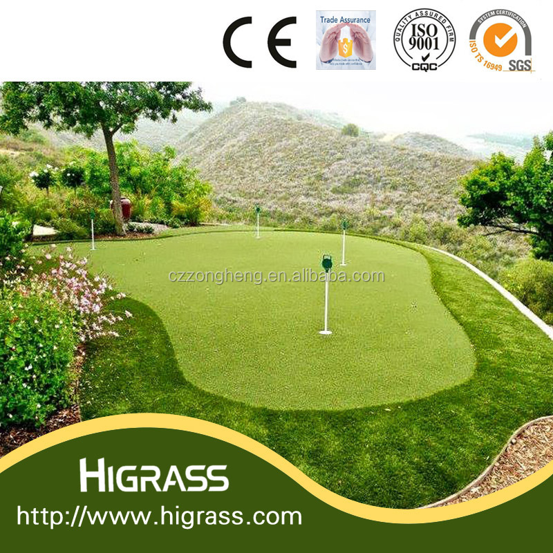 2017 New design mini golf putters golf christmas decorations synthetic grass for soccer fields with CE certificate