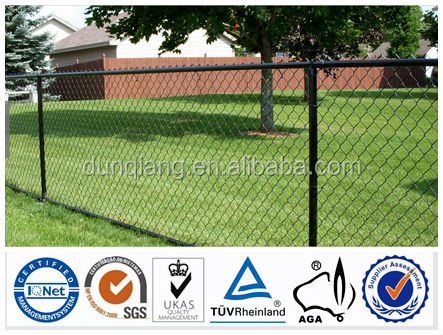 Hot dipped galvanized or pvc cotaed high quality factory price BV certificate chain link fence slats lowes