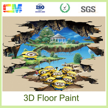 high quality epoxy 3D floor painting vinyl liquid epoxy resin paint