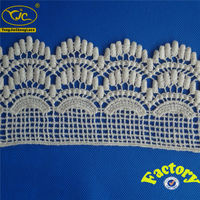 (Factory YJC12603) Hot sale crochet cotton lace trimming ribbon