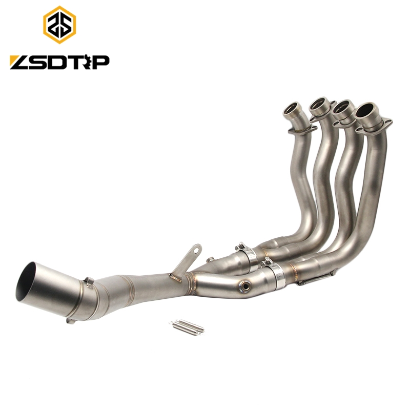 High quality connection motorcycle <strong>exhaust</strong> <strong>system</strong> middle pipe for YZF-R1 2015-2017 muffler pipe