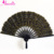 Gold&Black Gothic Party Decoration Handmade Cotton Lace Battenburg Lace Hand Fan Steampunk Fan Party Gifts