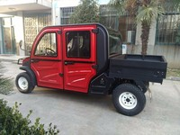 Cheap china 4 seater golf cart with 650lbs dumping/towing capacity
