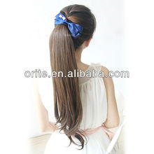 Hot selling popular factory price Ponytails virgin remy hair weft