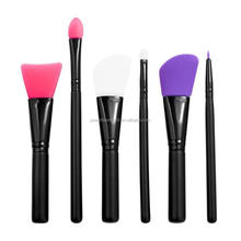 6 Pieces Makeup Brush Set Professional Face Eyeliner Blush Contour Foundation Silicone Cosmetic Brushes for Powder Liquid Cream
