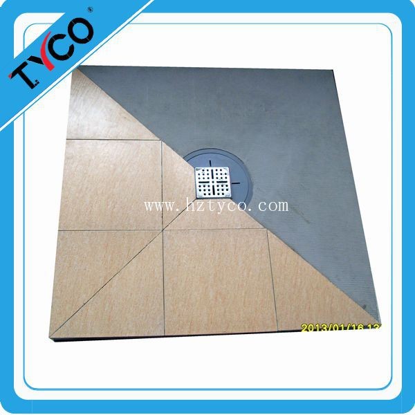 Wetroom shower floor shower trays with tiles