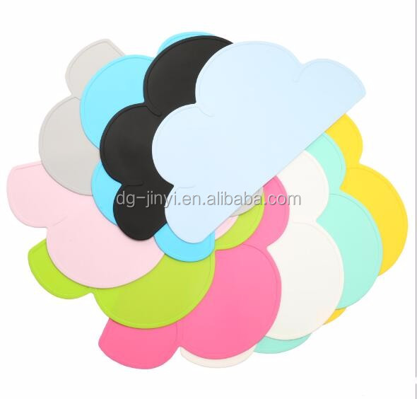 non-slip kids placemats cloud placemat silicone kids placemat
