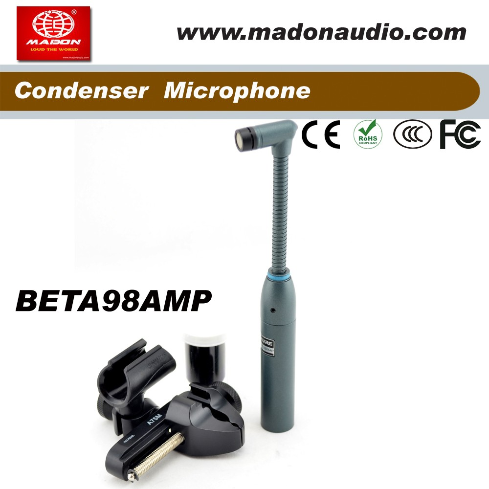 BETA98AMP Miniature drum wired microphone