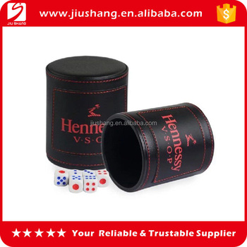 Professional top grade PU Leather Dice Cups with Customized Logo