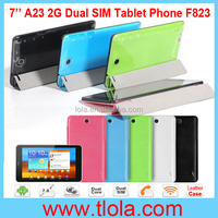F823 7 inch Android 4.2 Tablet 2G 3G WIFI 512RAM 4GB HDD with Leather Case
