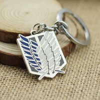 Attack on Titan Keychain Cosplay Anime Keychain Enamel Game Wings of Liberty K-62