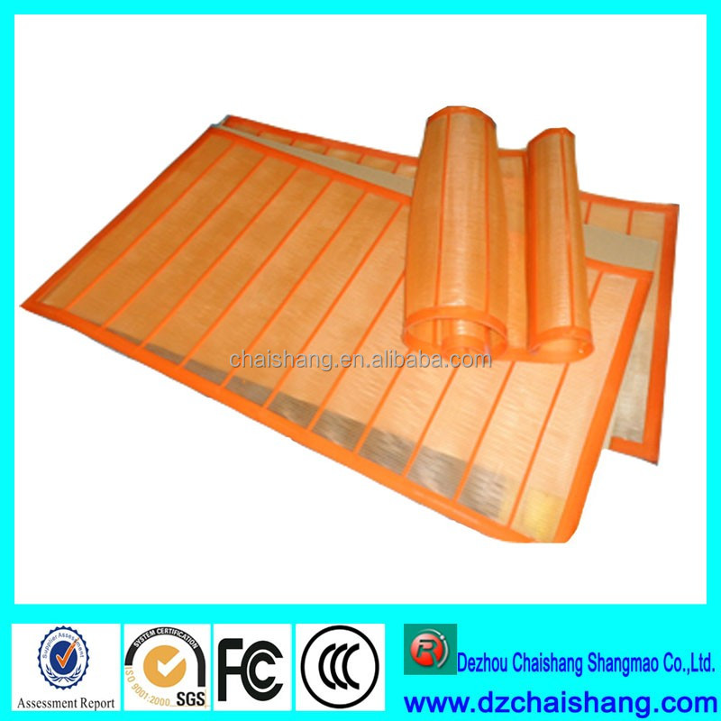 Pouring Urethane and Rubber Shaker Screen better than woven metal mesh