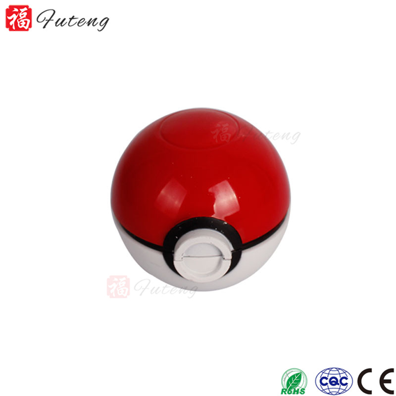 FuTeng New Popular Zinc Aolly Wholesale Tobacco 55MM 3 Part Pokeball Grinder Pokemon Best Design Herb Grinder