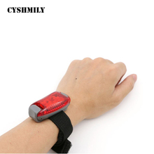 CYSHMILY outdoor night use CR2303 lithium battery ABS plastic mini wrist watch led red light flashlight