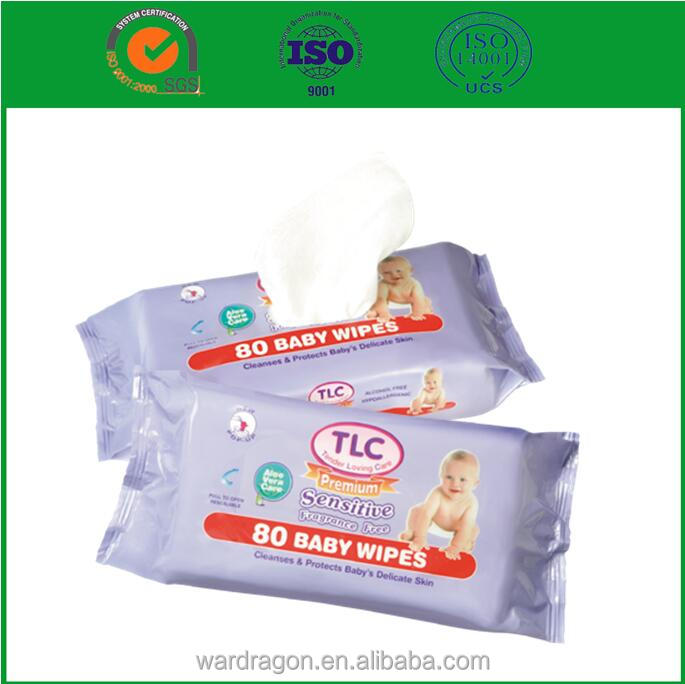 Non-alcohol cleaning wet wipes for baby skin