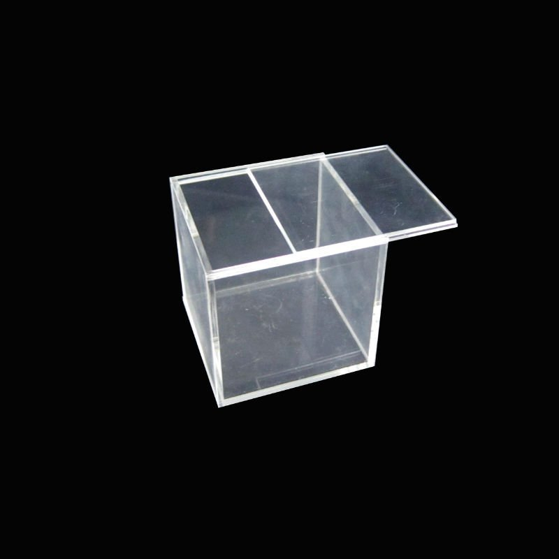 Acrylic Box With Led : Acrylic box with lid clear sliding cover view