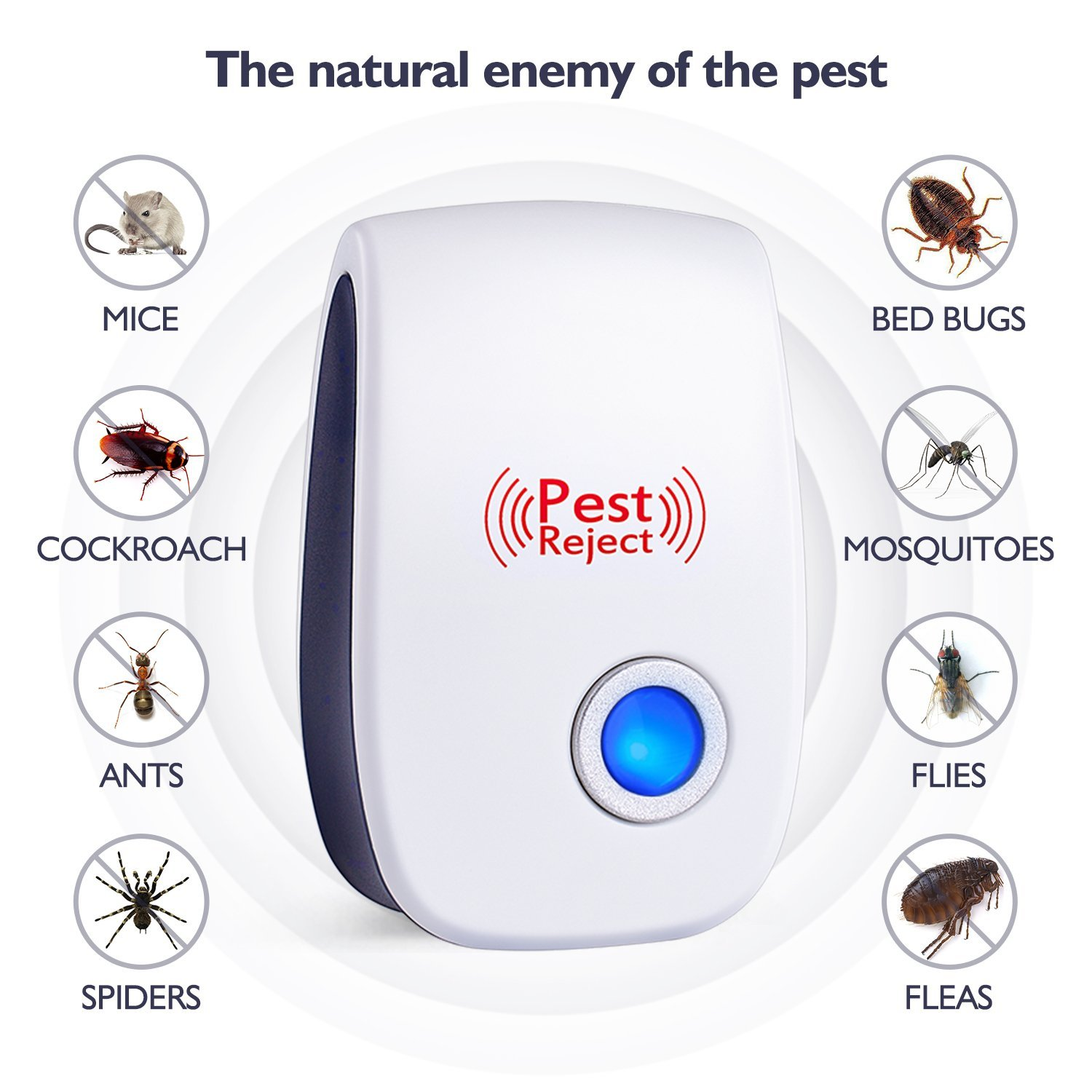 Amazon hot selling High quality portable pack 6 electronic ultrasonic pest repeller