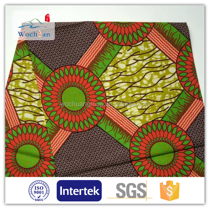 2016 Popular Top Quality Wholesale 100% Cotton african wax printed fabric for garment