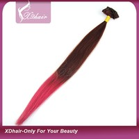 "10"" to 30""Inch Human Hair Weft Wholesale Ombre Color Human Hair Weaving No Tangle No Free Hair Extension"