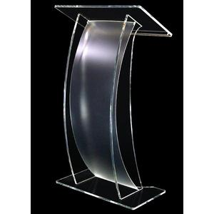 Cheap floor standing acrylic lectern