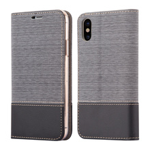 PU Leather Phone Case For iPhone X Jean Leather Flip Cover For iPhone X